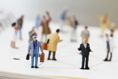 miniature businesspeople figurines