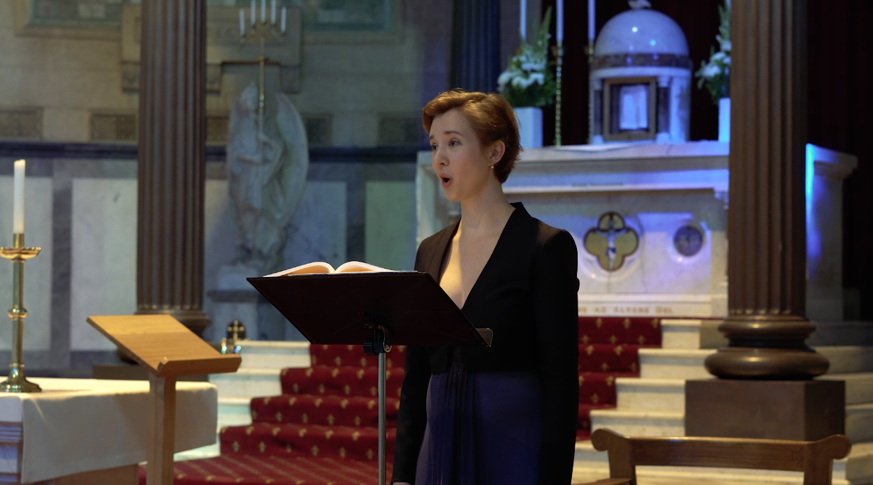 Phoebe Deklerk performing a classical concert at St Mary's Church Ascot Vale, Melbourne.
