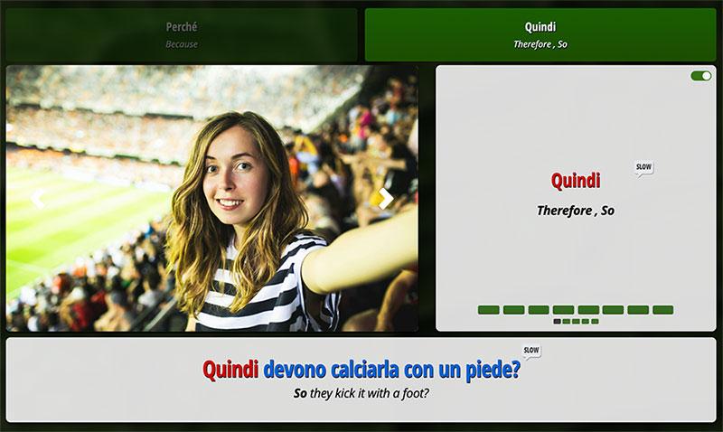 Ouino Italian app screenshot