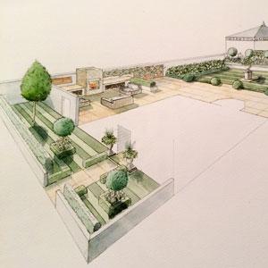 Water Colour Garden Design