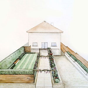 Watercolour Front Garden Design