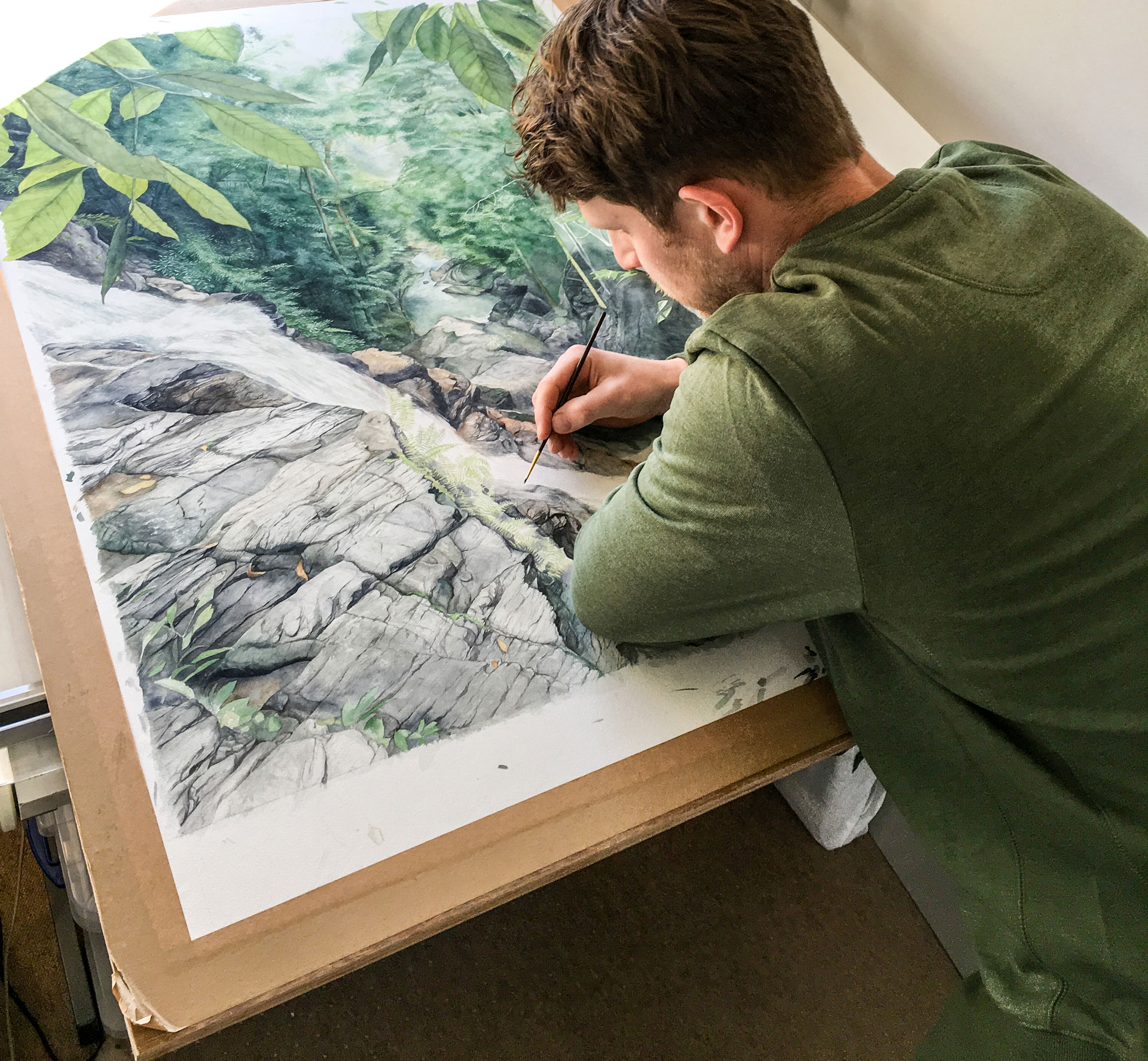 Tom Painting Jungle