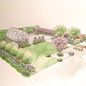 Garden Design with Greenhouse