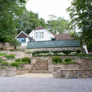 Garden With Custom Stonework