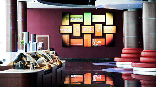 Multiple TV Screens wall display