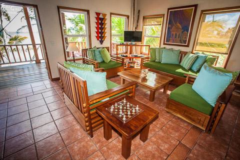 photo of a villa living room area