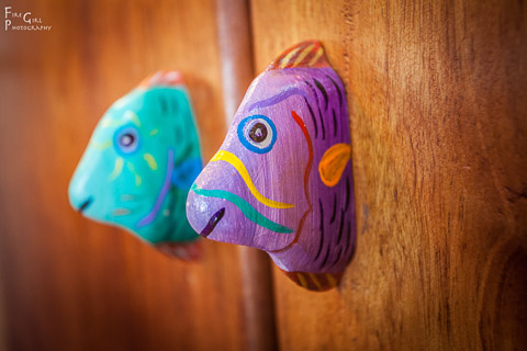 Photo of art inspired cabinet knobs