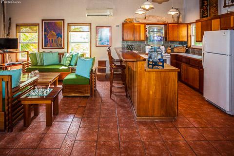 photo of private villa kitchen area