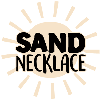 beach sand necklace logo