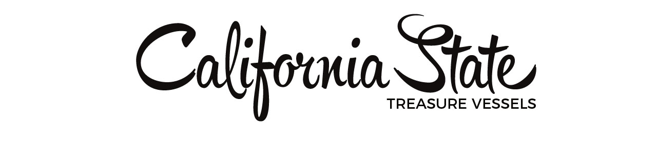 logo for california state shaped pottry