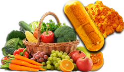 Fruits and vegetables as the origin of plant-based carotenoids (provitamin A)