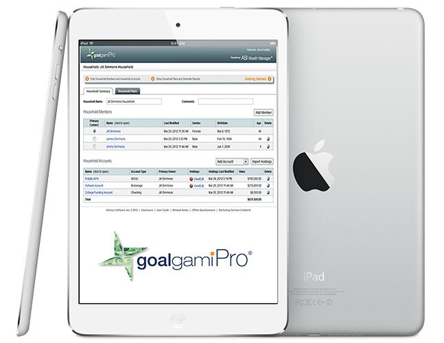 goalgamiPro iPad Financial Planning Tool