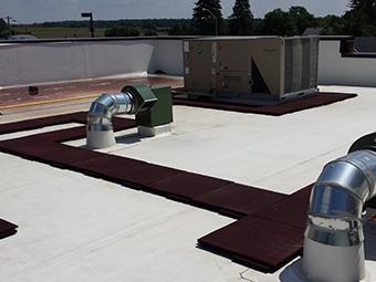 Pathway on roof Photo
