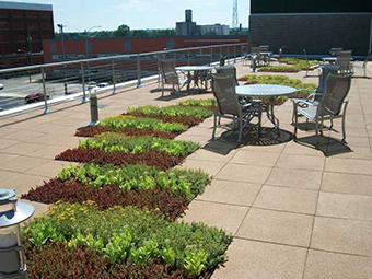 Roof terrace USA Photo