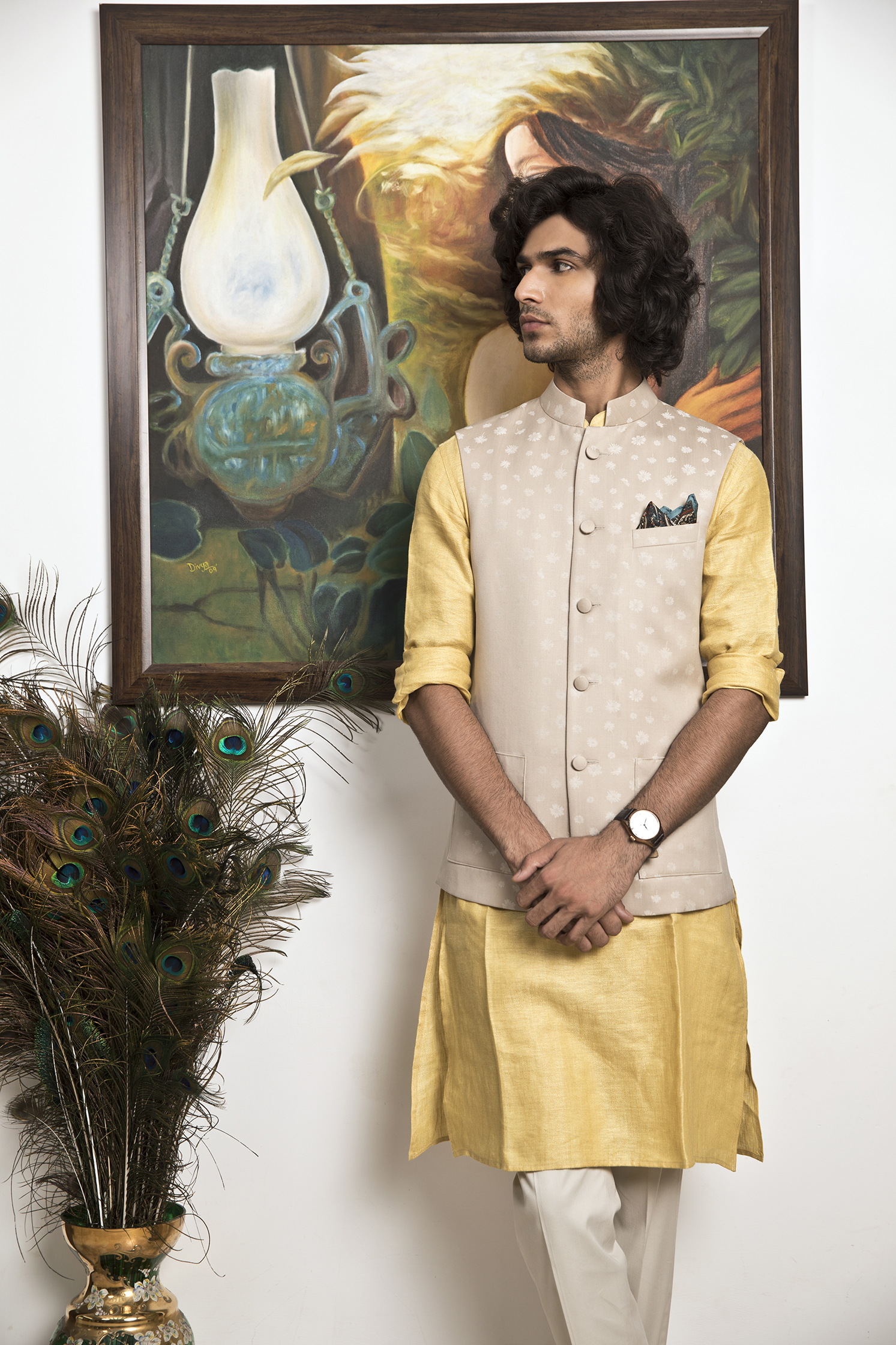Bespoke Groom Collection - Nehru Jackets with straight fit kurtas