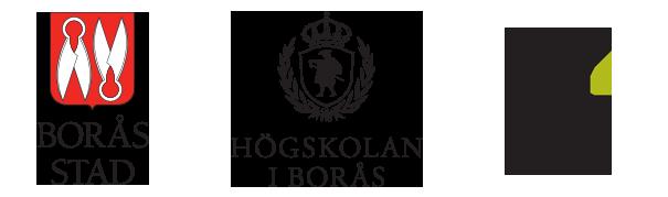 logotyper borås stad högskolan i borås rise swedish research institute
