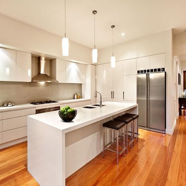 Kitchen after being cleaned with professional maid service.