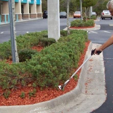 Garbage pick up through parking lot porter service.