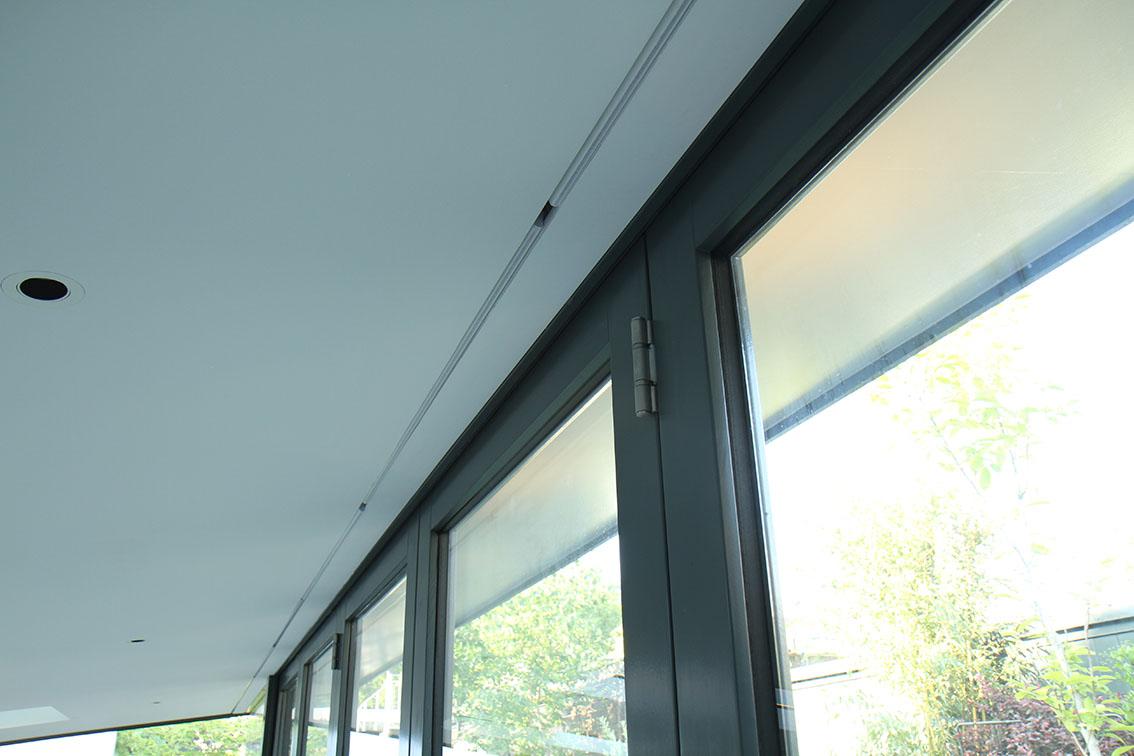 Concealed blinds in bifold doors. Bi-fold. Bi-folding doors.