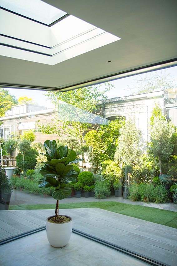 Concealed blinds in window, gable and skylight