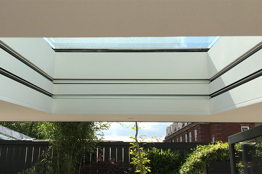 Concealed skylight blinds in London