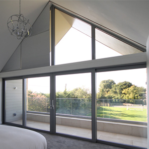 Concealed blinds in shaped window