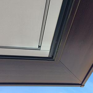 Corner detail of concealed blinds