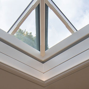 Concealed blinds in rooflight by Vale