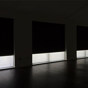 Blackout blinds for sliding doors