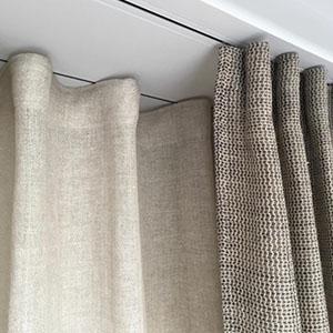 Recessed curtain tracks