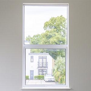 Hidden roller blinds in small window