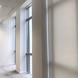 Concealed blinds in office tower