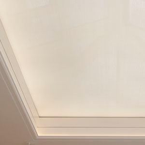 Skylight blind with LED lights