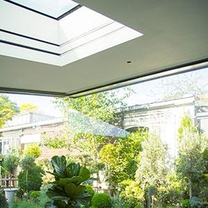 Double skylight blinds