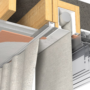 Recessed curtain track - Blindspace illustration