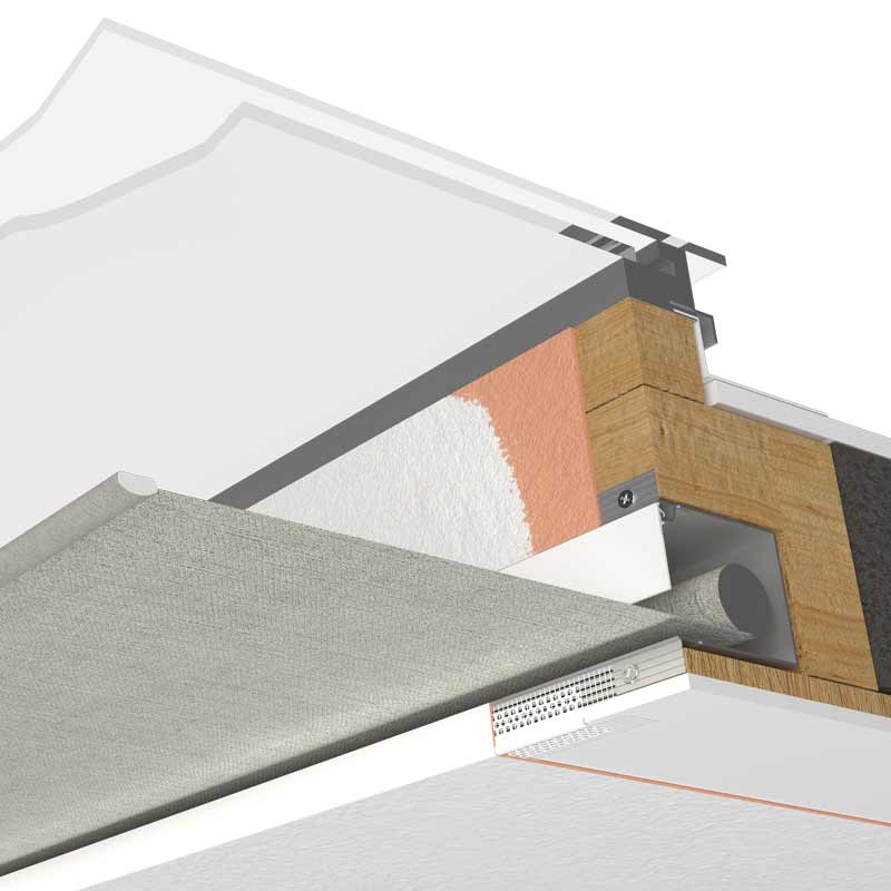 Blindspace installation drawing for skylight window
