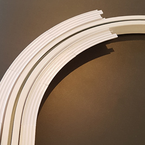 Recessed motorized curtains