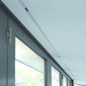 Hidden blinds in slimline glazing
