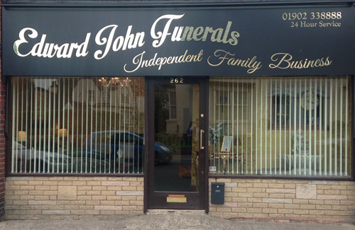 photo of Edward John funerals building