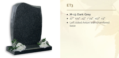 dark grey headstone
