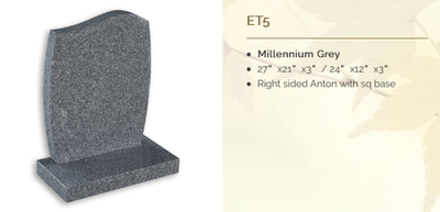 millenium grey headstone