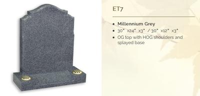 Millenium gret headstone