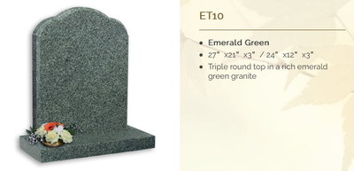 Emerald Green Headstone