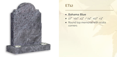 Bahama Blue Headstone