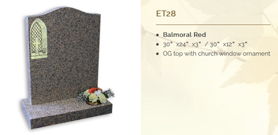balmoral red headstone