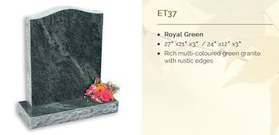 royal green headstone