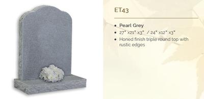 pearl grey headstone