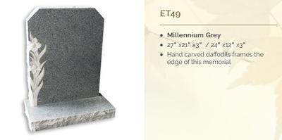 millennium grey headstone