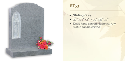 stirling grey headstone
