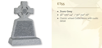 truro grey headstone